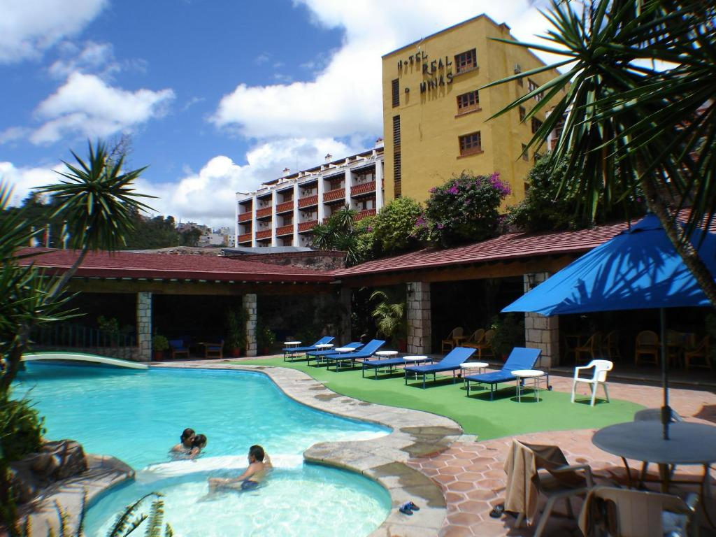 The swimming pool at or near Hotel Real de Minas Guanajuato