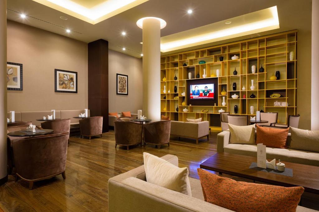 Лаундж или бар в Отель Горки Панорама