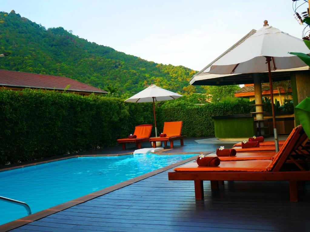 The swimming pool at or close to Simply Resort