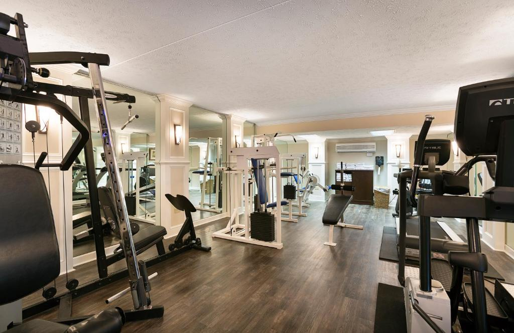 The fitness center and/or fitness facilities at Sea Crest Oceanfront Resort