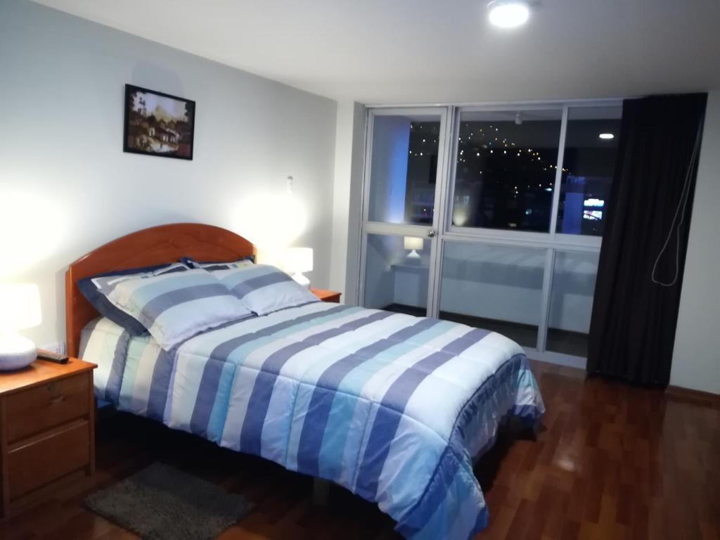 Cama o camas de una habitación en Family Home