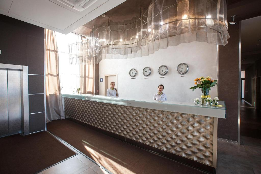The lobby or reception area at Zolotoy Zaton Business hotel