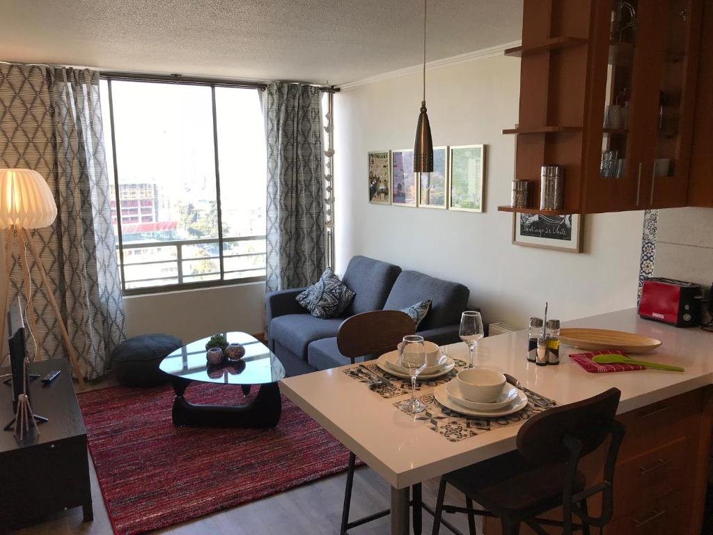 Zona de estar de Bellas Artes apartment