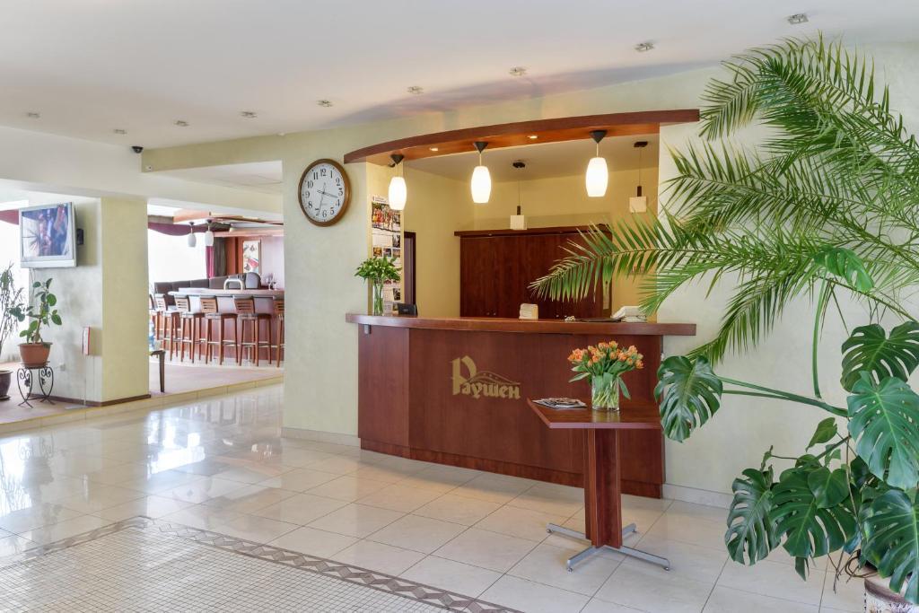 Лобби или стойка регистрации в Отель Раушен