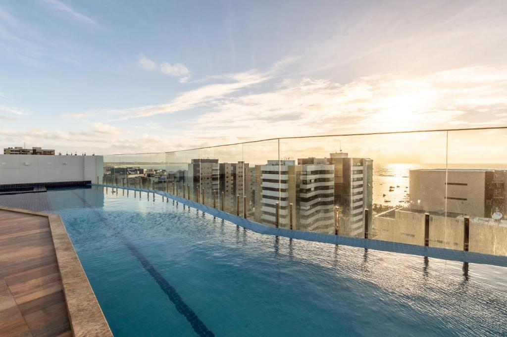 The swimming pool at or close to Intercity Maceio
