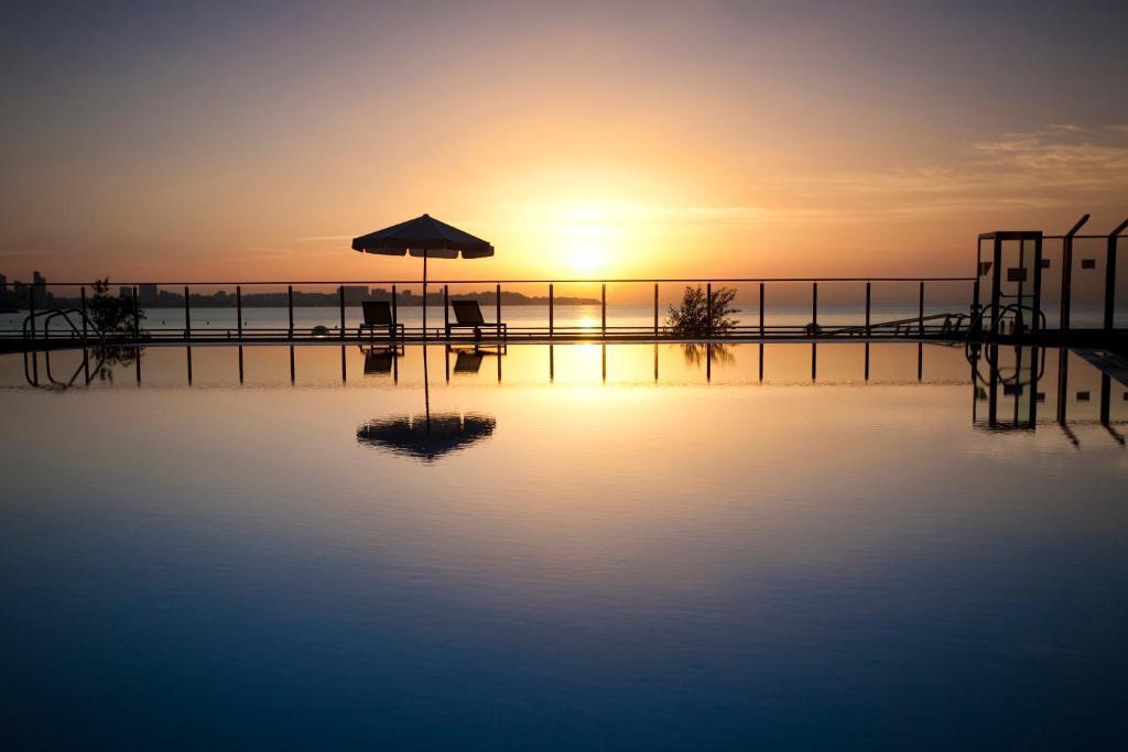 The swimming pool at or near Melia Alicante