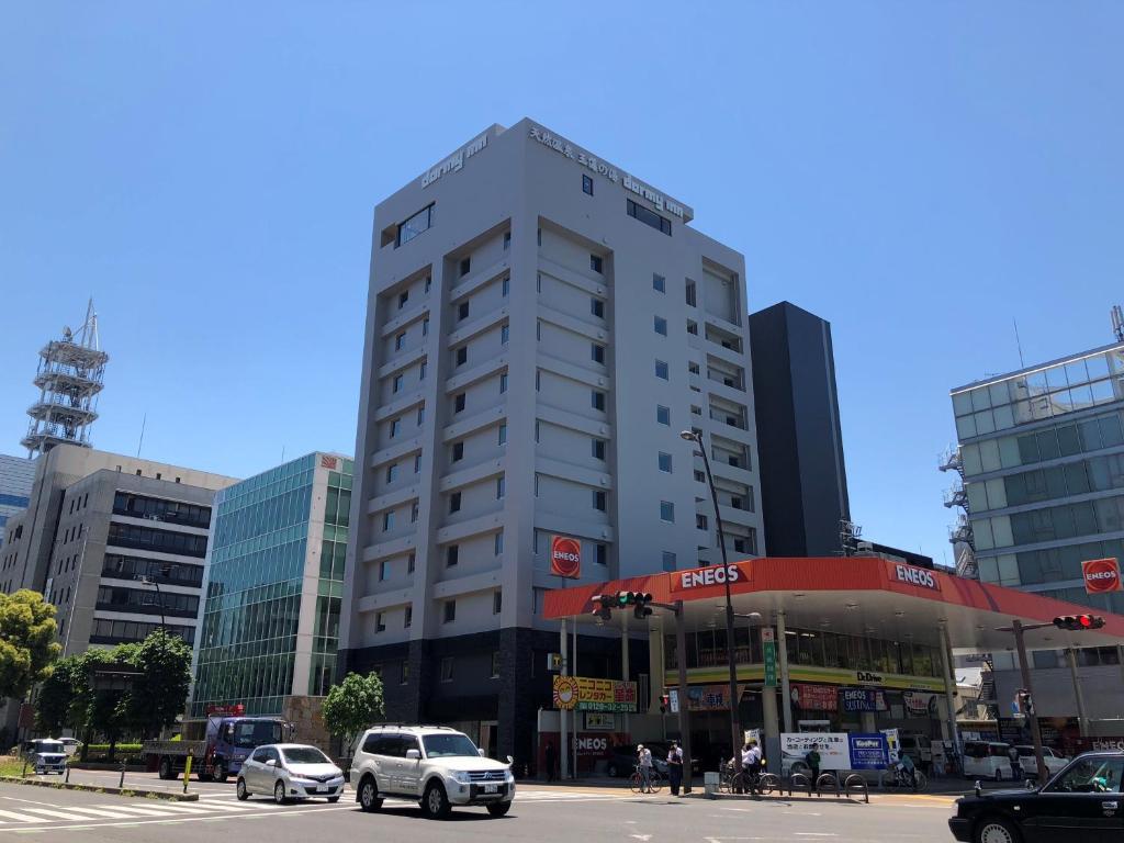 Rakennus, jossa budjettihotelli sijaitsee