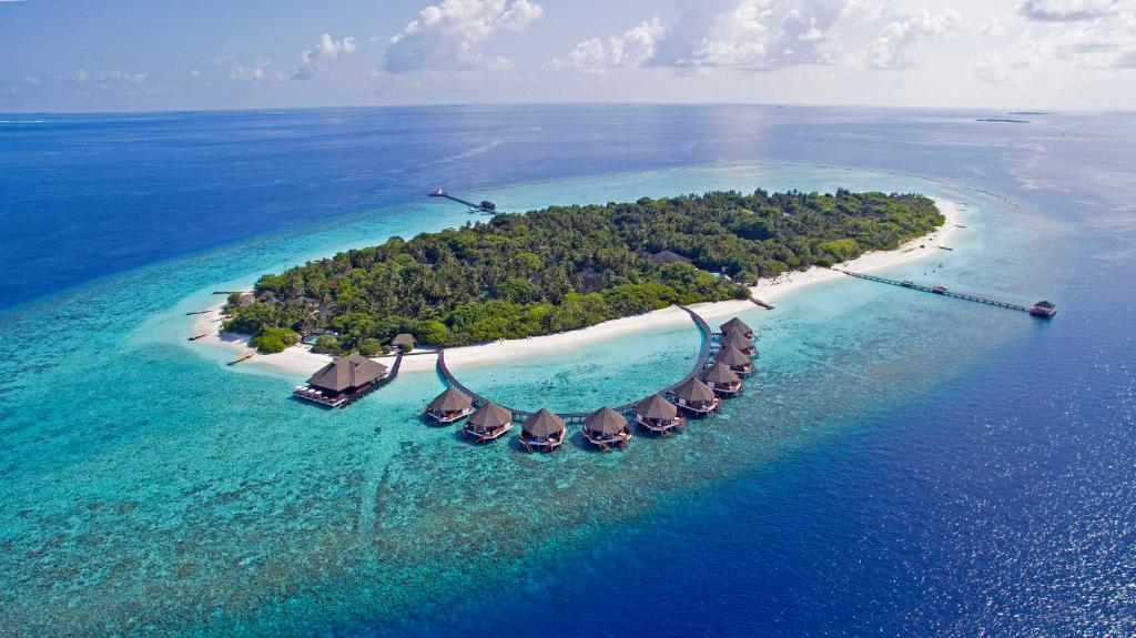 Vue panoramique sur l'établissement Adaaran Prestige Water Villas - Premium All Inclusive