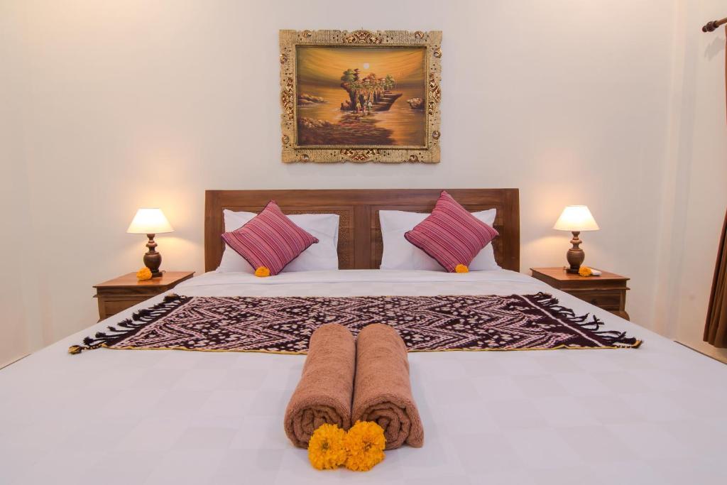 Un ou plusieurs lits dans un hébergement de l'établissement Pondok Badri