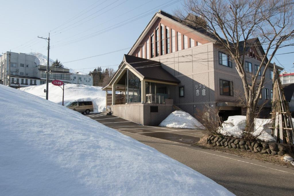 Refre Hotel during the winter