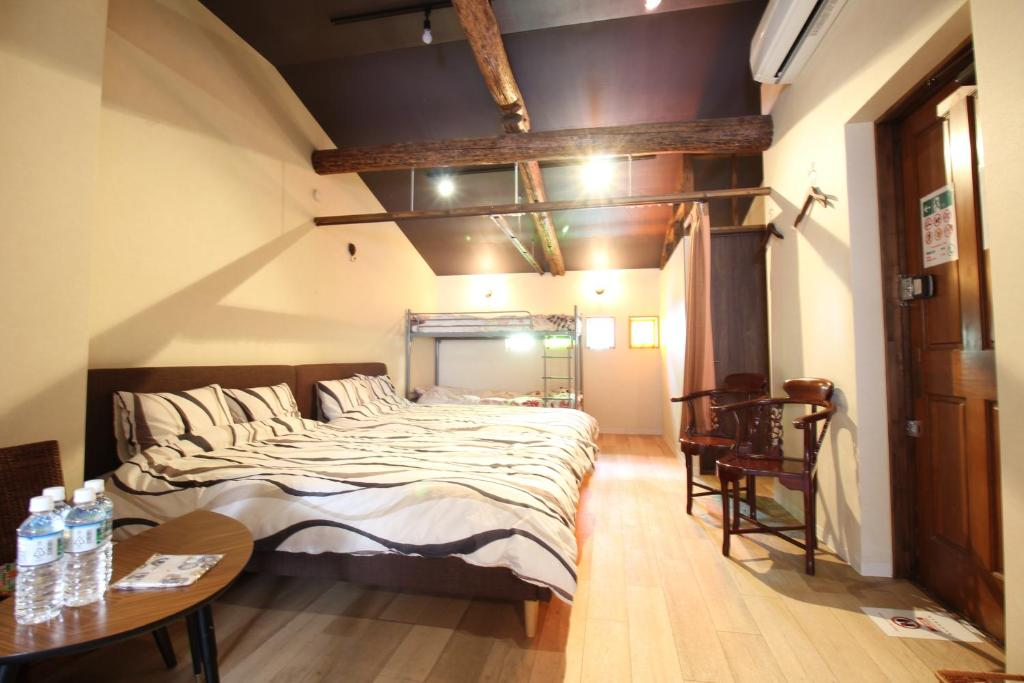 Kyoto LAPIS房間的床