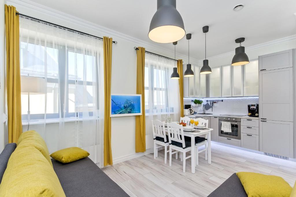 Posezení v ubytování Tallinn City Harbour Apartments