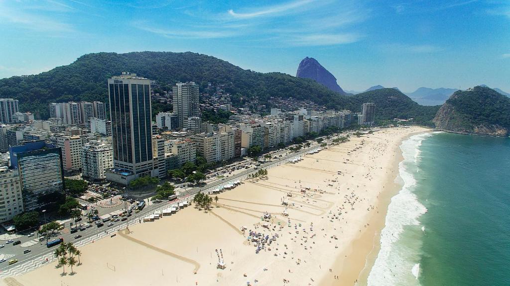 Blick auf Hilton Copacabana Rio de Janeiro aus der Vogelperspektive