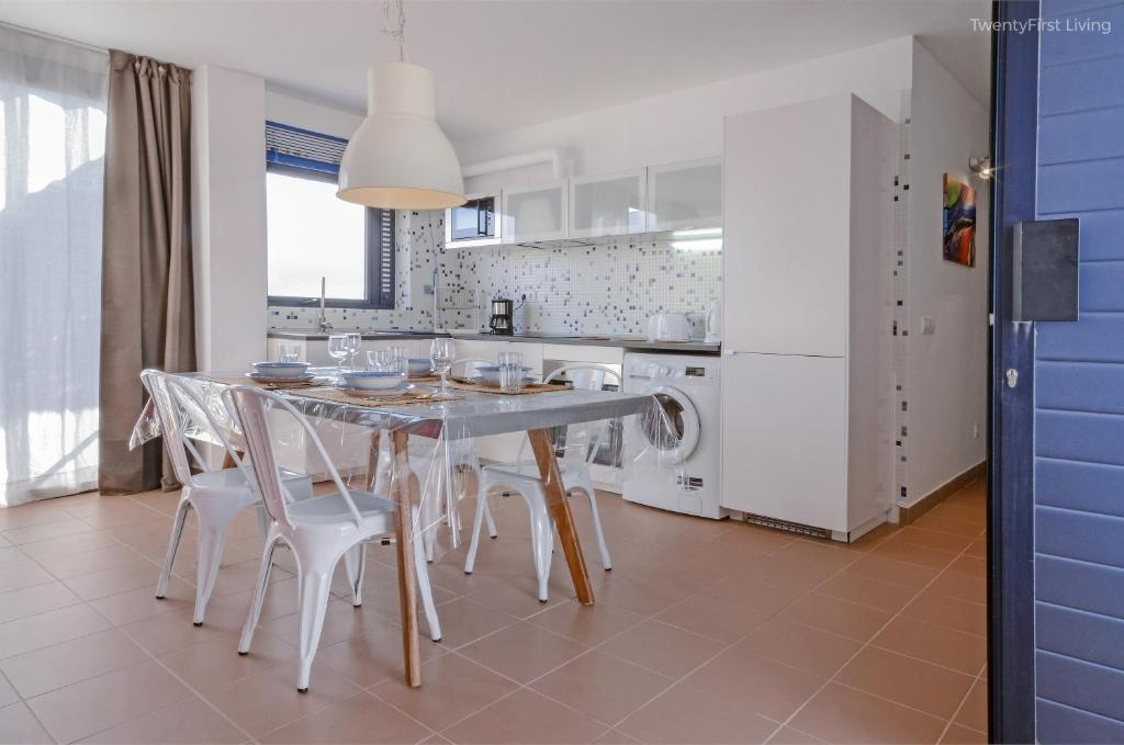 Ett kök eller pentry på Residence Ocean View - Vespa 50