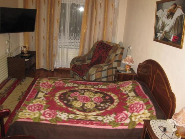 Гостиная зона в Apartment Na Stroiteley 66