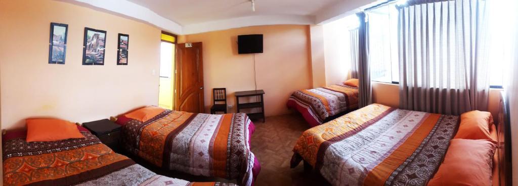 Cama o camas de una habitación en Sami House