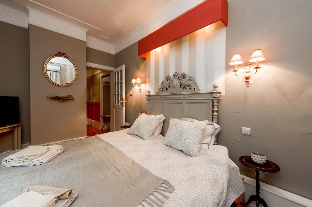 Un ou plusieurs lits dans un hébergement de l'établissement B&B Villa Belle Epoque