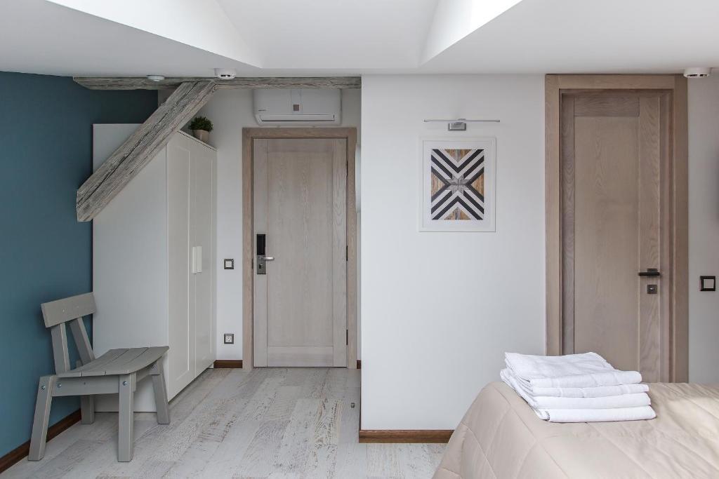 Кровать или кровати в номере Centeral Hotel Moscow