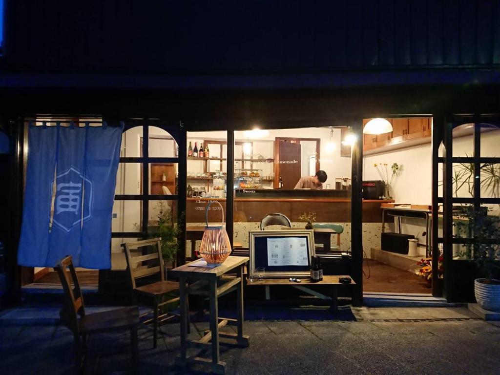 ゲストハウス Toraにあるビジネスエリアまたは会議室