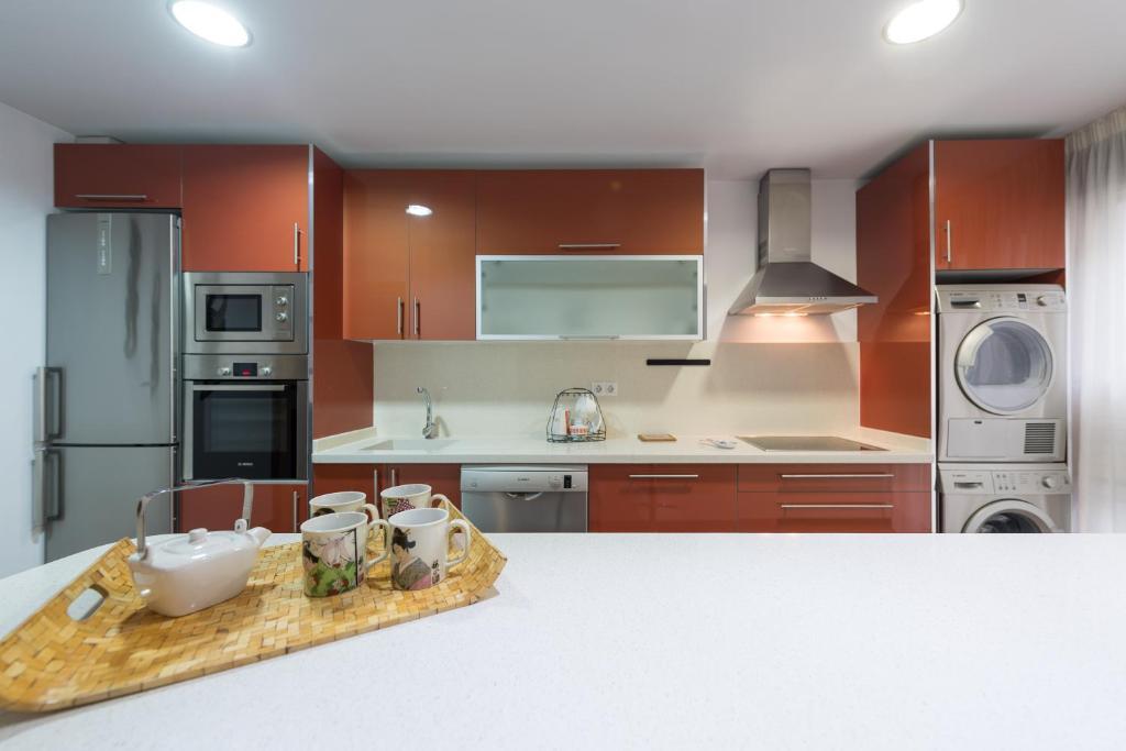 Maiao Suite tesisinde mutfak veya mini mutfak