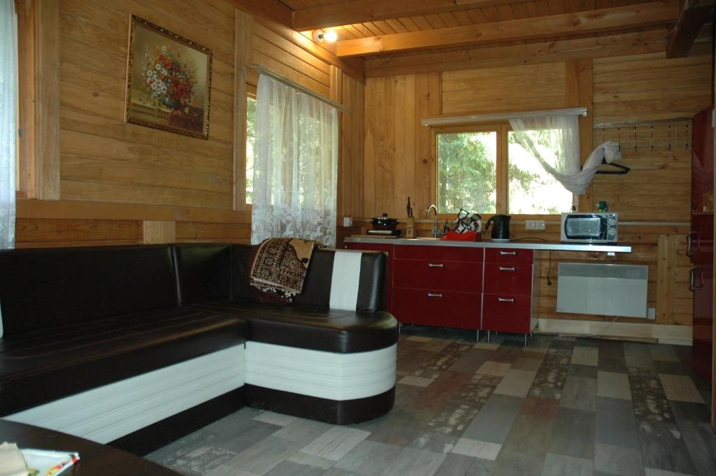A kitchen or kitchenette at Lesnaya Baza Shishki