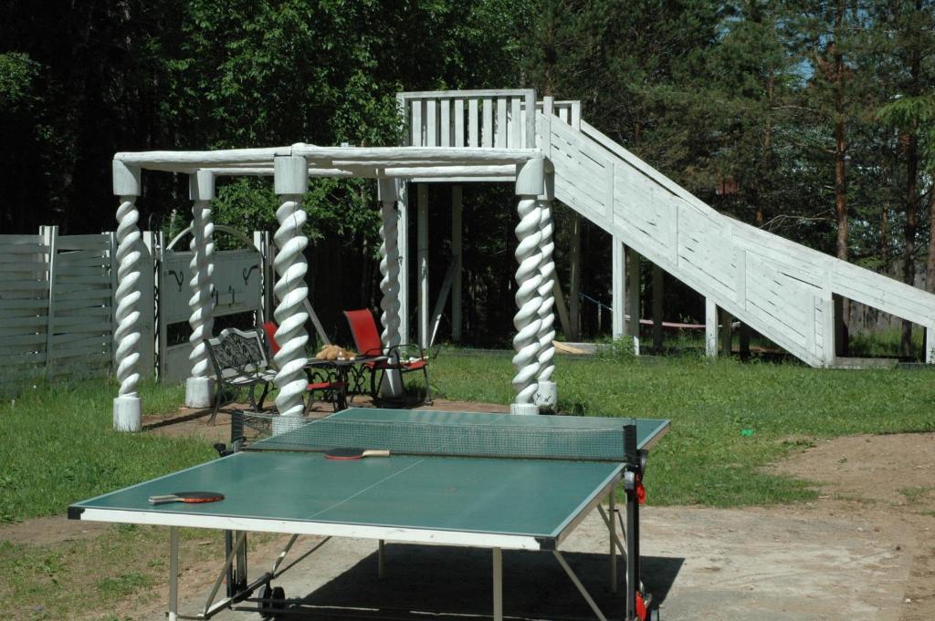 Ping-pong facilities at Lesnaya Baza Shishki or nearby