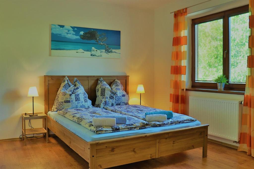 Postel nebo postele na pokoji v ubytování Haus Julie Lipno