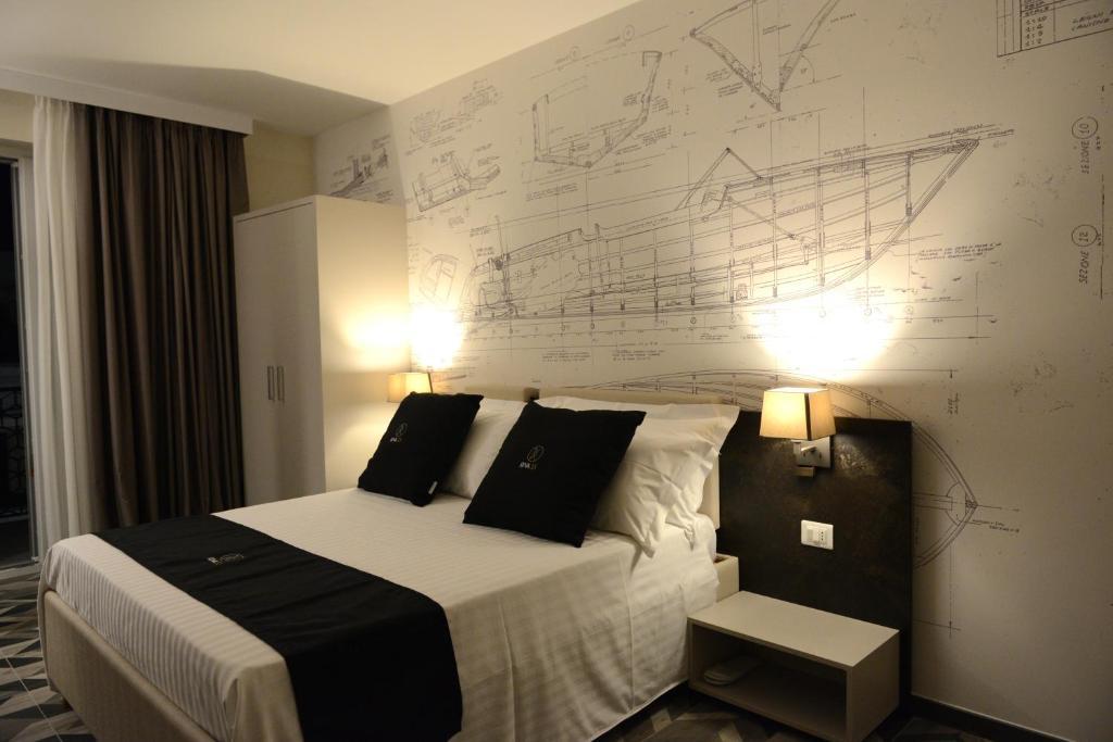 Letto o letti in una camera di Riva 33