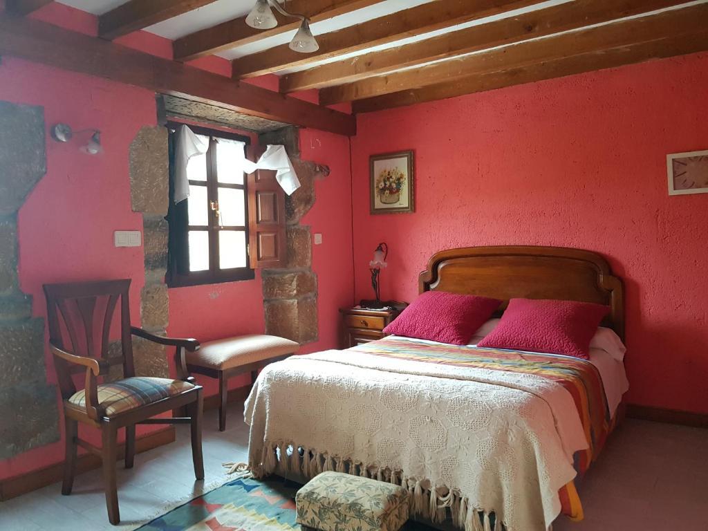 Cama o camas de una habitación en Molino de Luna