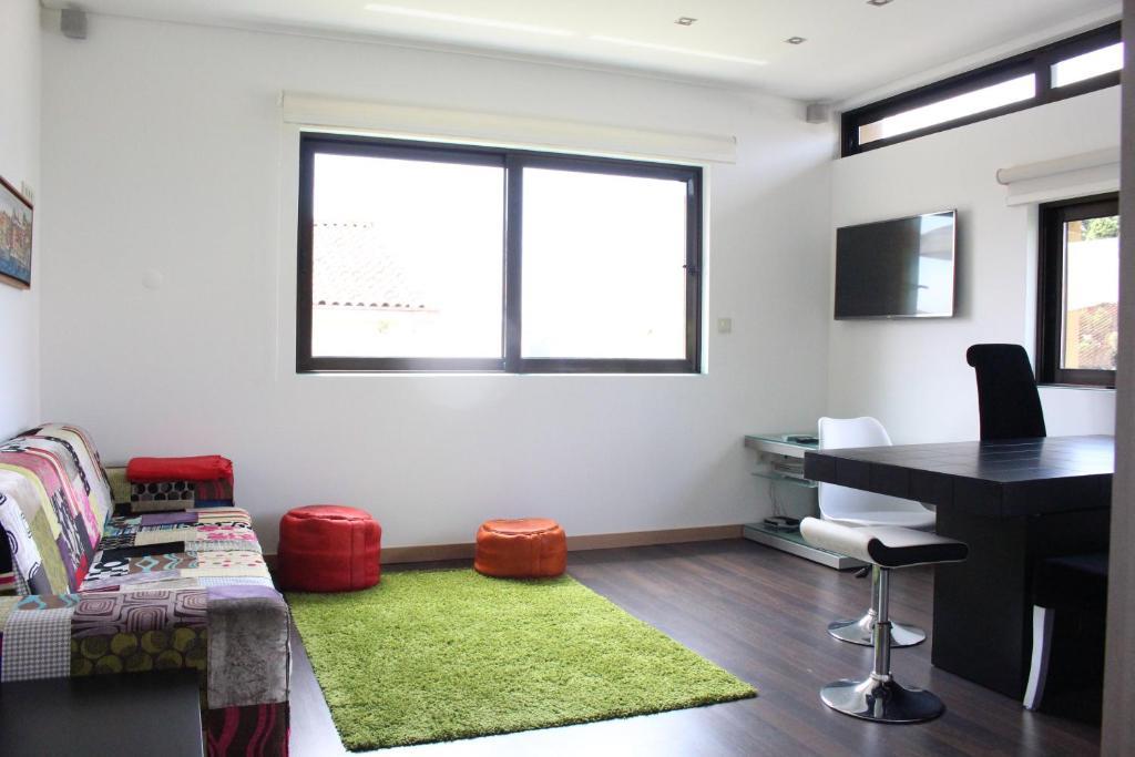 A seating area at Casa Viriato