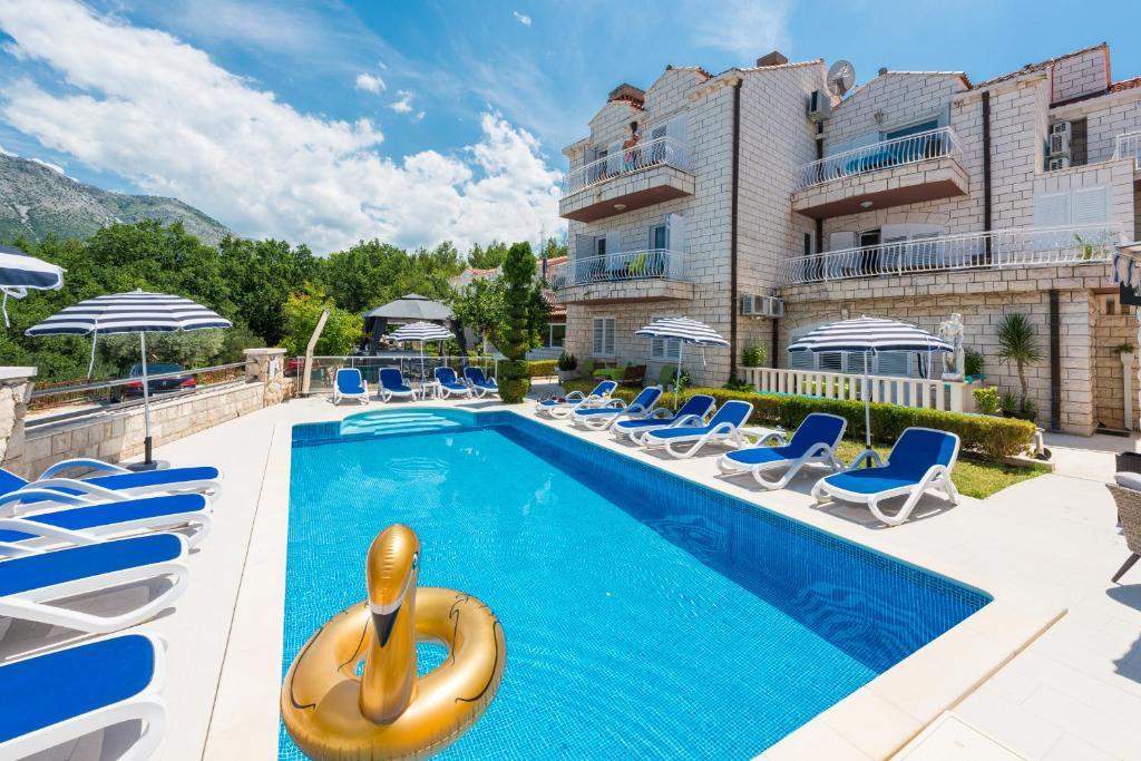 The swimming pool at or near Villa Markoc