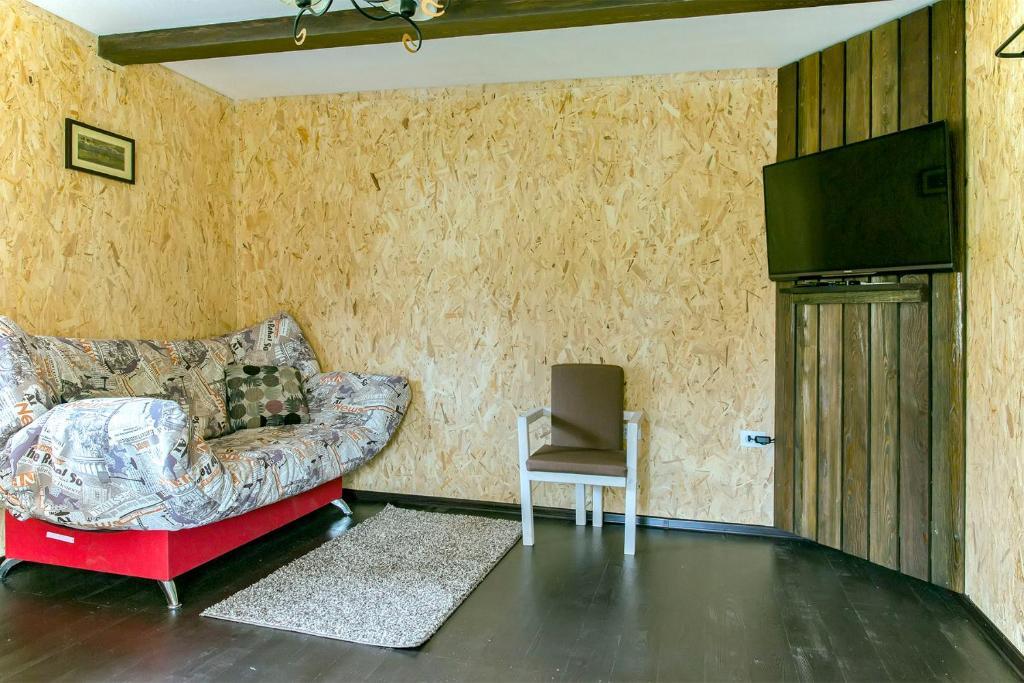 Гостиная зона в Гостевой Дом Байкал Йети
