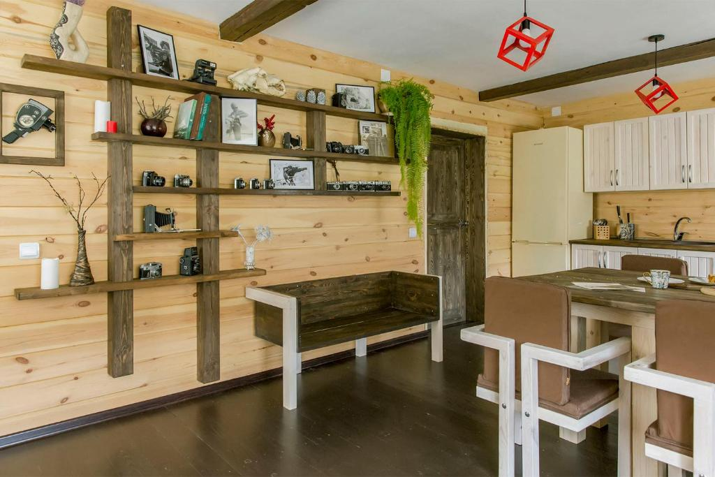 A kitchen or kitchenette at Guest House Baikal Yeti