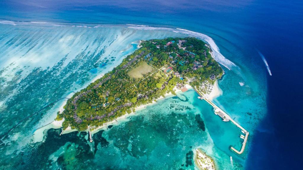A bird's-eye view of Adaaran Select Hudhuranfushi - Premium All Inclusive