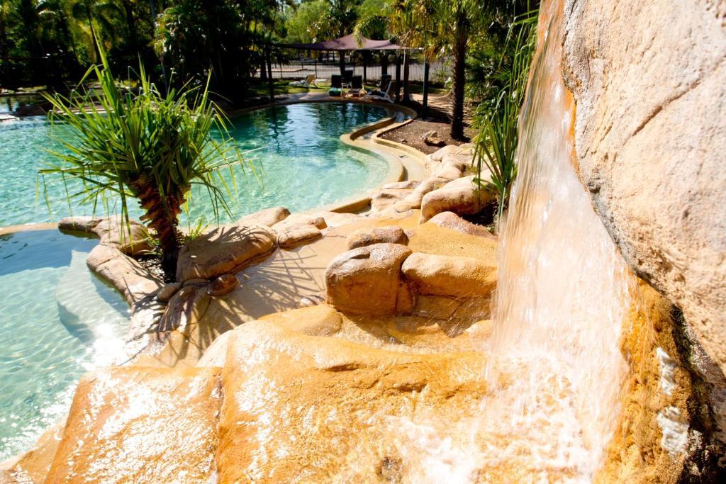 The swimming pool at or near Cooinda Lodge Kakadu