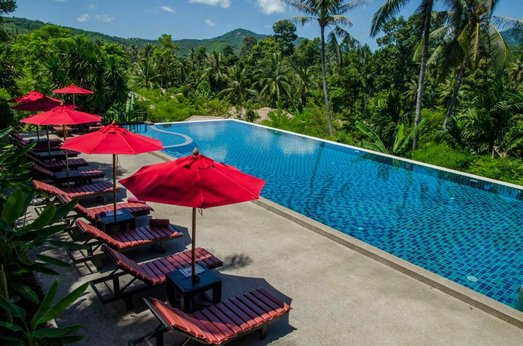 A view of the pool at Kirikayan Luxury Pool Villas & Suite or nearby