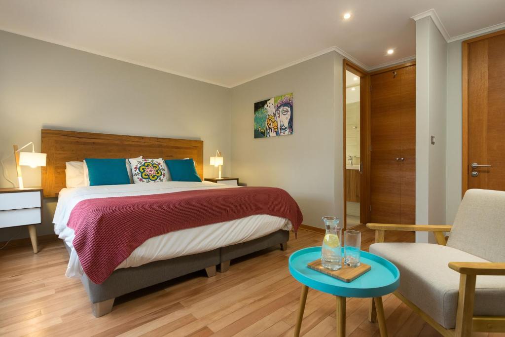 Cama o camas de una habitación en Casa Bellavista Hotel