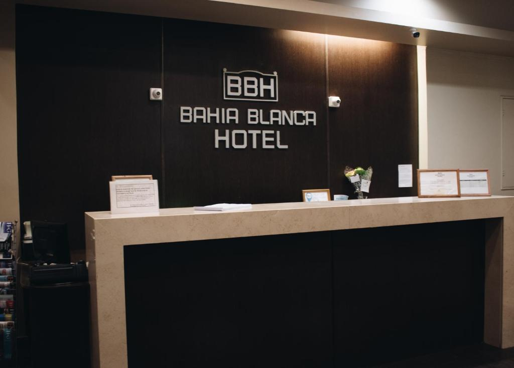 The lobby or reception area at Bahia Hotel