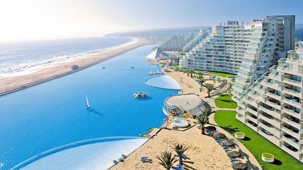 Largest Pool In Chile >> Apartment San Alfonso Del Mar Goleta Algarrobo Chile