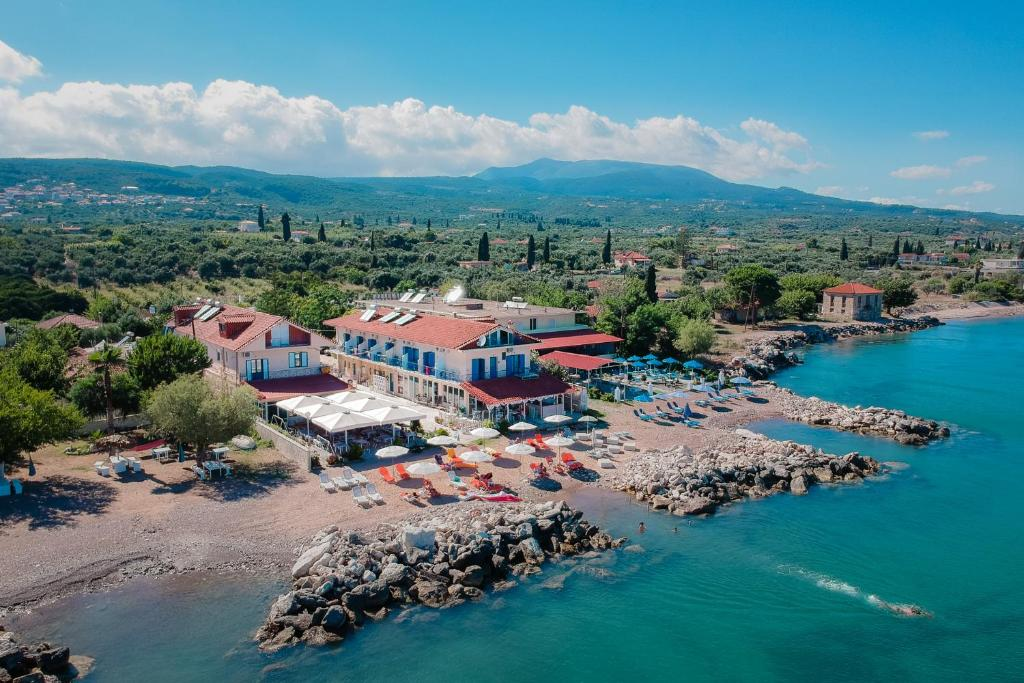 Widok z lotu ptaka na obiekt Aggelos Hotel