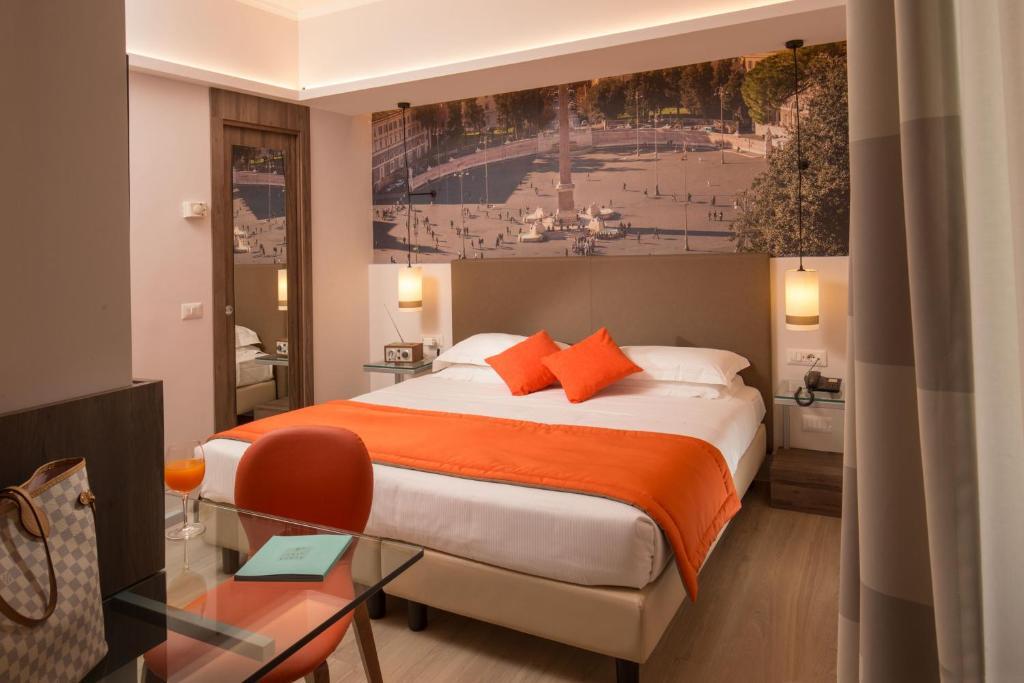 En eller flere senger på et rom på Hotel Villa Grazioli