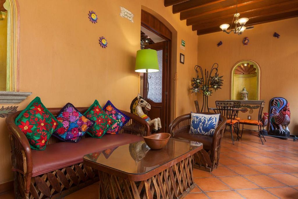 Zona de estar de Hotel Boutique Parador San Miguel Oaxaca