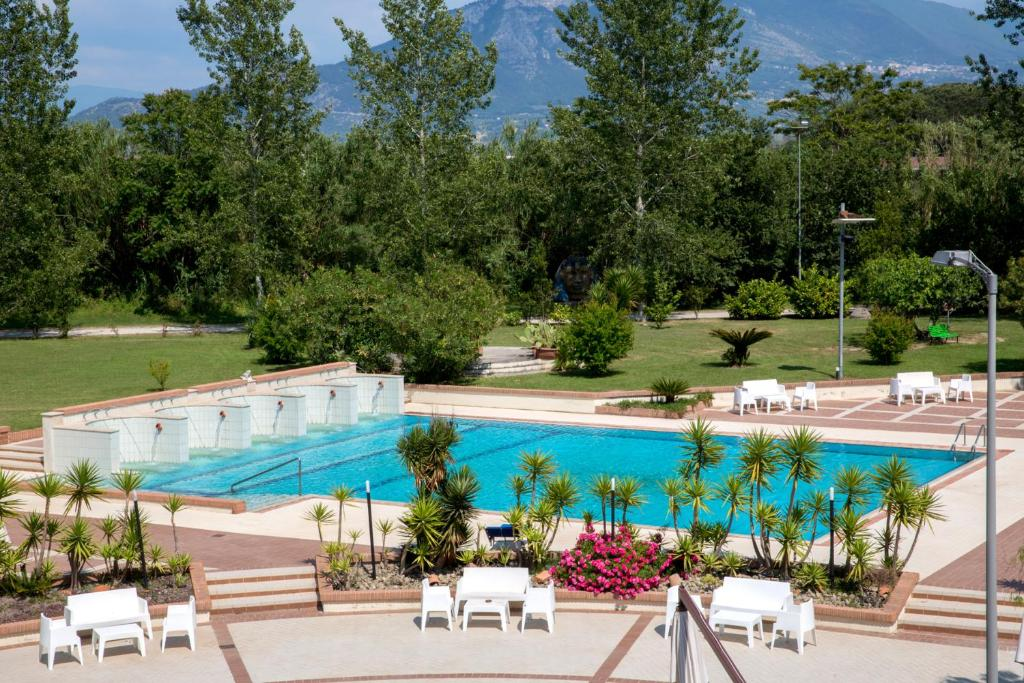 The swimming pool at or close to Grand Hotel Paestum