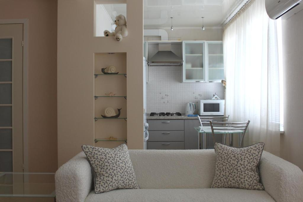 A kitchen or kitchenette at Vanilla Apartment