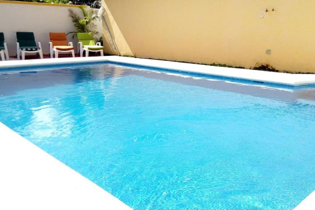 The swimming pool at or near Casa Coral Cozumel