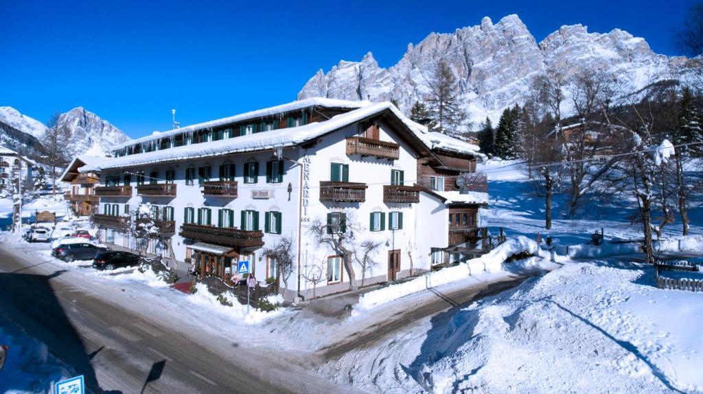 Hotel Menardi during the winter