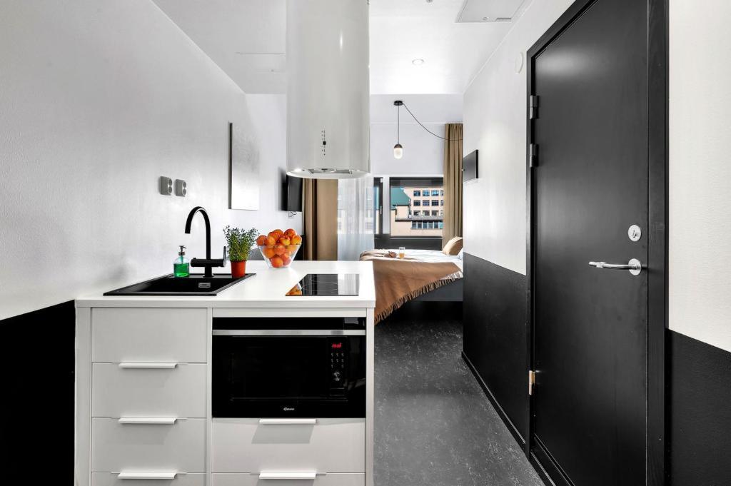 Kuchnia lub aneks kuchenny w obiekcie Forenom Aparthotel Oslo
