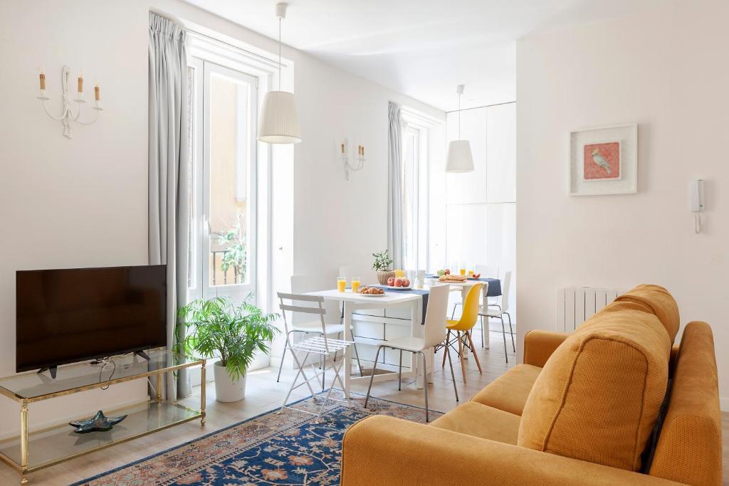 A seating area at Apartamento Smile Sol
