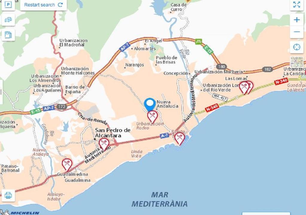Marbella Costa Del Sol Kartta Kartta Kohteesta Marbella Costa