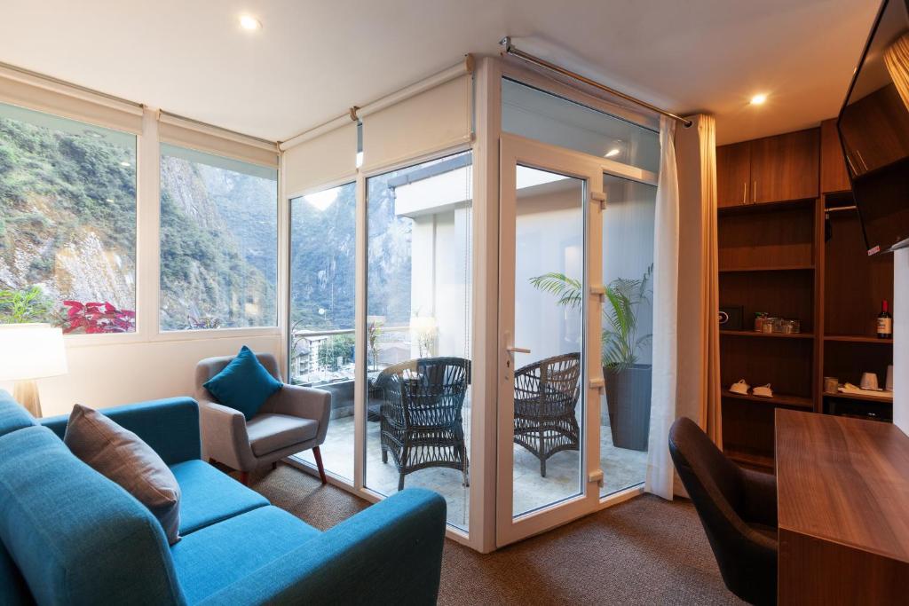 Zona de estar de Inti Punku Machupicchu Hotel & Suites
